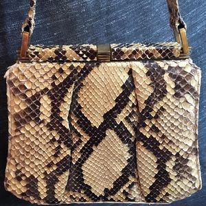 Handbags - Vintage Snakeskin handbag 1940's